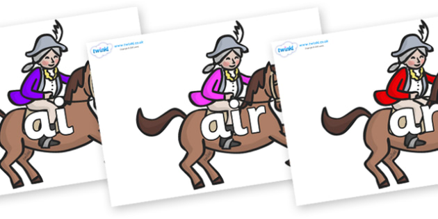 Phase 3 Phonemes on King's Horses - Phonemes, phoneme, Phase 3, Phase three, Foundation, Literacy, Letters and Sounds, DfES, display