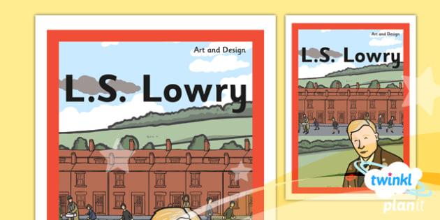 PlanIt - Art KS1 - LS Lowry Unit Book Cover - planit, book cover, art and design, art, ks1, ls lowry