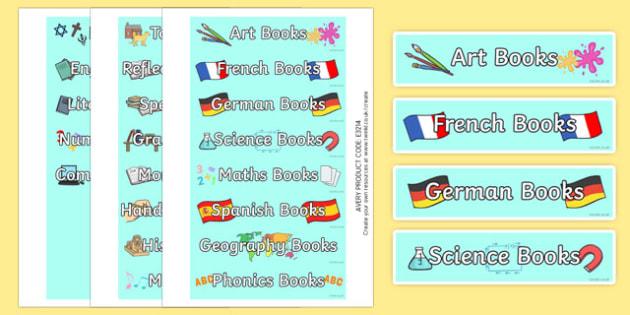 Book Tray Labels - book, tray labels, tray, labels, display, indentify