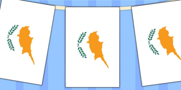 Cyprus Flag Display Bunting - commonwealth, display, flags