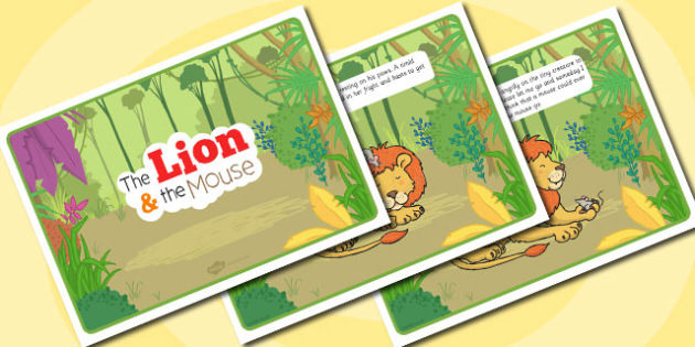 The Lion And The Mouse Story - story, lion, mouse, kindness
