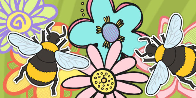 A4 Bee Cut Outs (Minibeasts) - bee, cut out, a4, cut, display, bees, minibeast