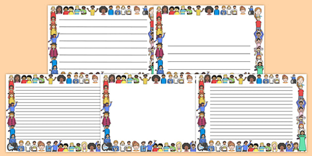 We Are All Different Full Page Borders (Landscape) - page border, border, frame, writing frame, writing template, writing aid, we are all different, we are all different writing frames, we are all different page borders, writing, A4 page, page edge,