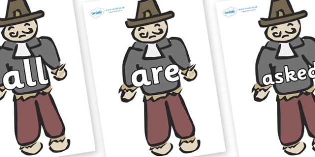 Tricky Words on Guy Fawkes - Tricky words, DfES Letters and Sounds, Letters and sounds, display, words