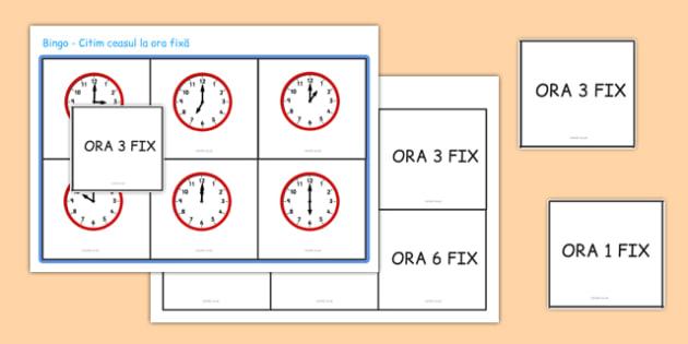Ceasul la ora fixa, Bingo - matematica, timpul, timp, ceas