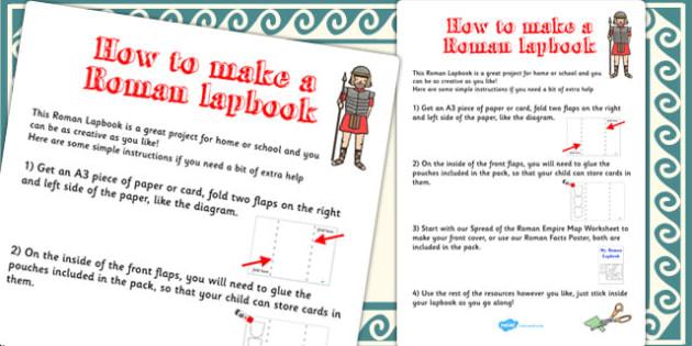 Roman Lapbook Instructions Sheet - lapbooks, instructions, roman