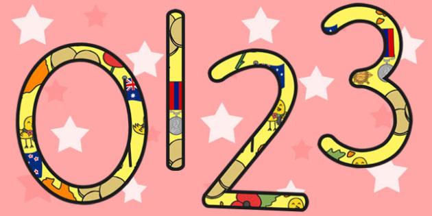 Anzac Day Display Numbers - anzac day, anzac, anzac display