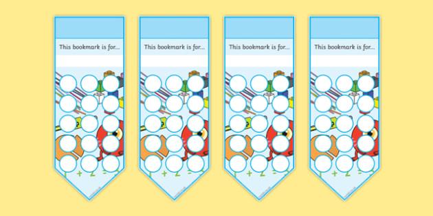 Numeracy Themed Sticker Reward Bookmark 15mm - bookmarks, bookmark, reward bookmark, numeracy reward bookmark, numeracy sticker bookmark, numeracy, 15mm