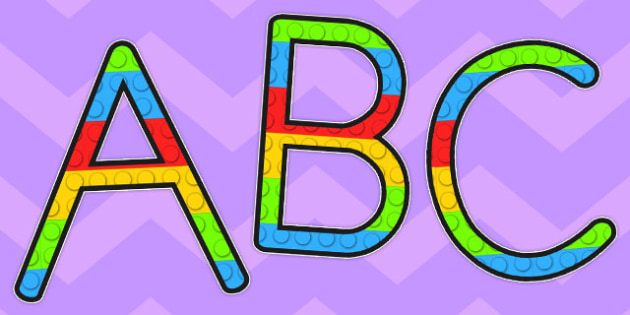 Building Brick Display Lettering Uppercase, Building Brick, toys, display, letters,  lego
