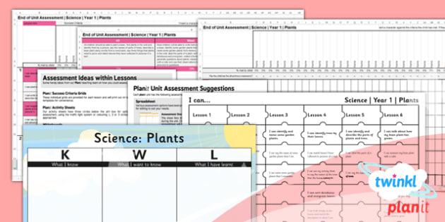 PlanIt - Science Year 1 - Plants Unit Assessment Pack - planit, science, plants, unit, assessment, planning, ks1, 2014, curriculum