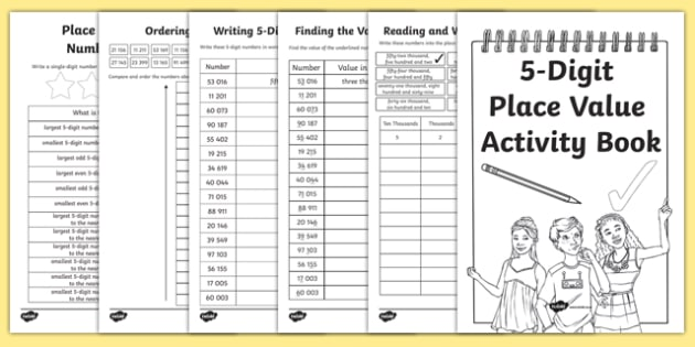 Back to School Place Value Revision of 5-Digit Numbers Activity Booklet-Scottish