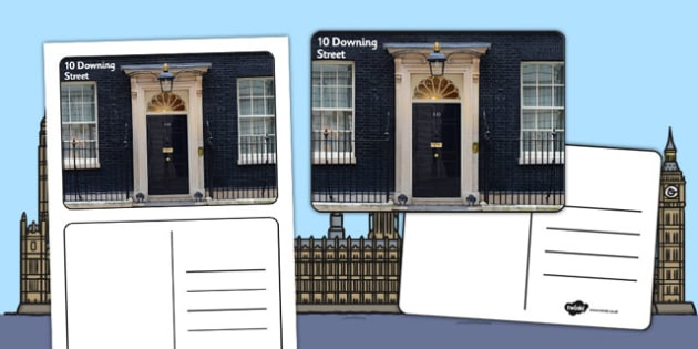 Postcard From 10 Downing Street Template - postcard, downing