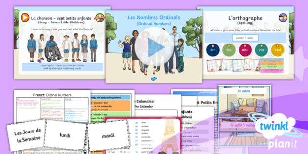 PlanIt - French Year 6 - Let's Visit a French Town Lesson 6: Ordinal Numbers Lesson Pack