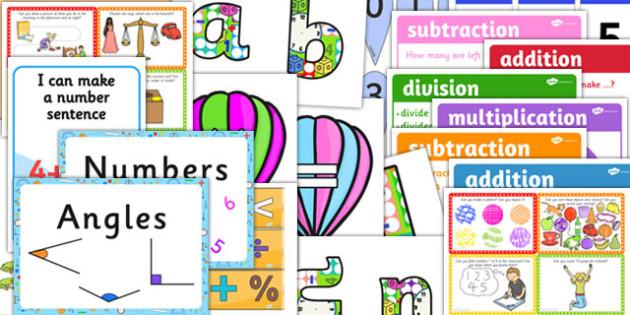 EYFS Maths Area Classroom Set Up Pack - eyfs, maths, area, set up