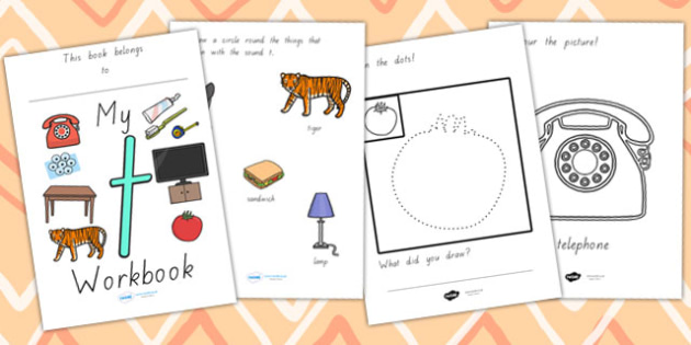 My Workbook T Lowercase - letter formation, writing, tracing