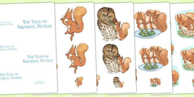The Tale of Squirrel Nutkin Size Ordering - squirrel nutkin, size ordering