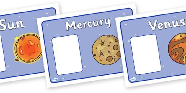 Our Solar System  (Planets) Group Signs - Editable - Space, group signs, group labels, group table signs, table sign, teaching groups, class group, class groups, table label, space, moon, sun, earth, mars, ship, rocket, alien, launch, stars, planet,