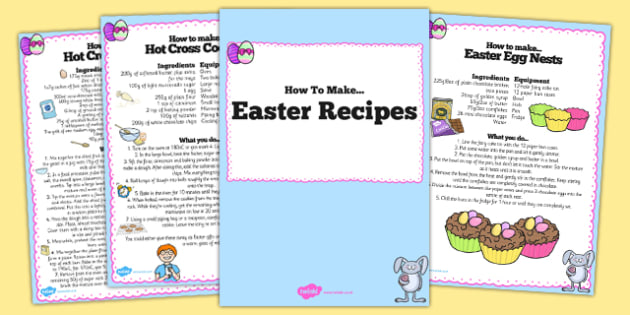 Easter Recipe Booklet - easter, recipe, booklet, cook, bake