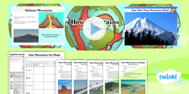 PlanIt - Geography Year 5 - Magnificent Mountains Lesson 4: How Mountains Are Made Lesson