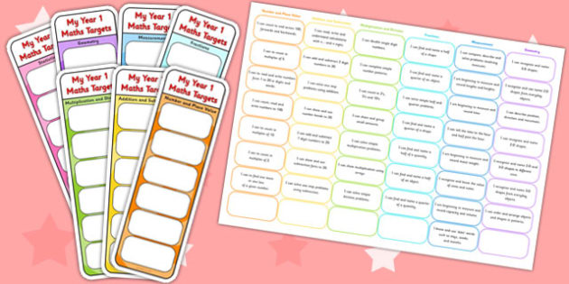 Year 1 Maths Assessment Bookmarks and Cut Outs - math, assessment