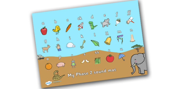 Safari Themed Phase 2 Sound Mat - safari, on safari, safari sound mat, safari phase 2 sound mat, safari themed sound mat, letters and sounds, phonics