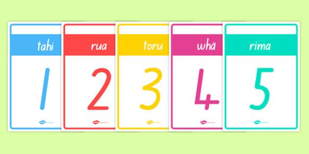 Numbers 1-20 Cards Te Reo Māori - te reo māori, new zealand, nz, numbers, cards