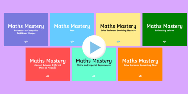 Year 5 Measurement Maths Mastery Activities Resource Pack