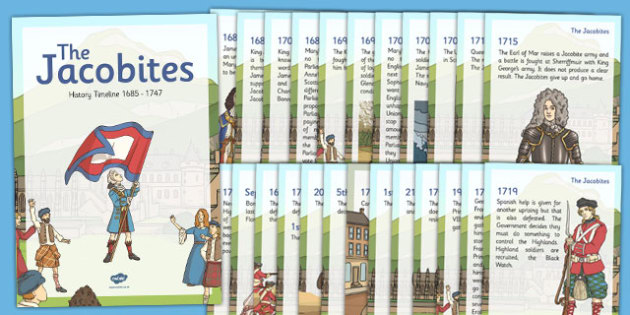 The Jacobites Timeline Display Posters - CfE, jacobites, timeline