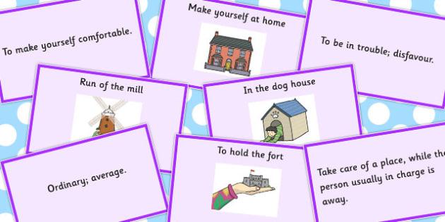 Building Idiom Matching Cards - Build, Idiom, Match, Idioms