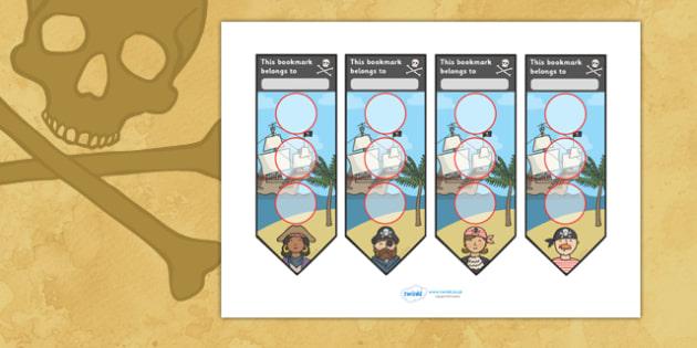 Pirate Sticker Reward Bookmarks (30mm) - Pirate Reward Bookmarks (30mm), pirate, reward bookmarks, bookmarks, reward, 30mm, 30 mm, stickers, twinkl stickers, award, certificate, well done, behaviour management, behaviour, pirate, pirates, ship, islan