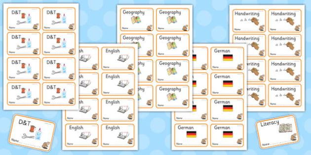 Chipmunk Themed Editable Book Labels - chipmunk, editable, book labels