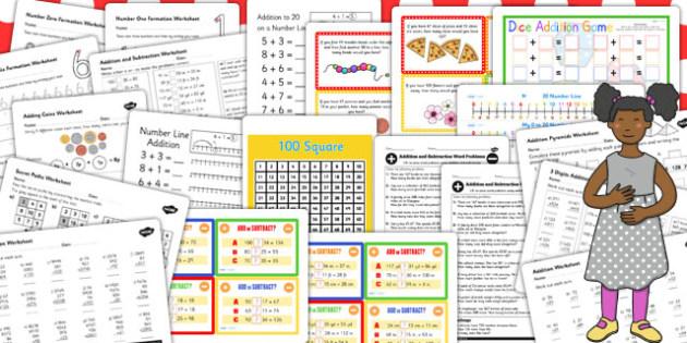 KS3 Maths Addition Catch Up Resource Pack - ks3, maths, catch up