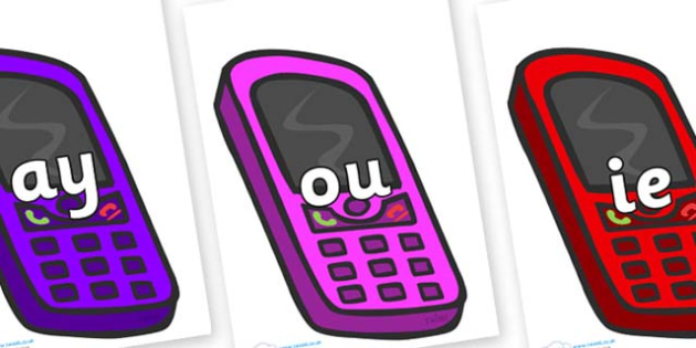Phase 5 Phonemes on Mobiles - Phonemes, phoneme, Phase 5, Phase five, Foundation, Literacy, Letters and Sounds, DfES, display