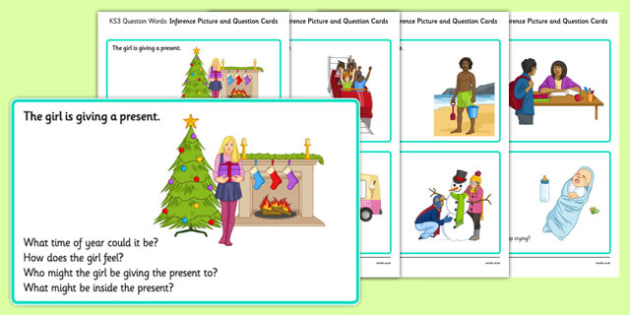 KS3 Inference Picture and Question Cards - SEN, support, behaviour, relationships, secondary, activity, PSHE, understanding,