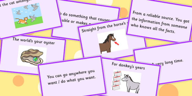 Animal Idioms Matching Cards Set 2 - animal, idioms, match, cards