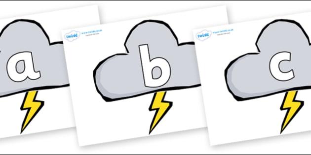 Phoneme Set on Weather Symbols (Stormy) - Phoneme set, phonemes, phoneme, Letters and Sounds, DfES, display, Phase 1, Phase 2, Phase 3, Phase 5, Foundation, Literacy