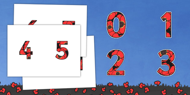 Remembrance Day Themed Display Numbers-remembrance day, themed, display, numbers, display numbers, history, ww1, numbers for display