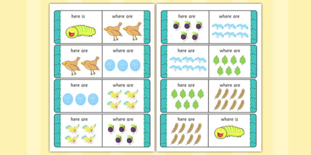 Here is Where Are Activity to Support Teaching on The Crunching Munching CaterpillarThe Crunching Munching Caterpillar