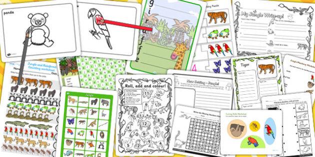 Jungle Activity Pack - activities, classroom activities, games