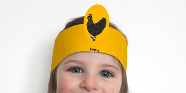 Story Role Play Headbands to Support Teaching on Handa's Hen - headband, game, dress