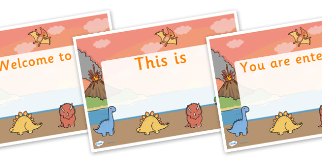Dinosaur Themed Editable Class Welcome Signs - dinosaurs, dinosaur themed welcome signs, dinosaur welcome signs, dinosaur classroom signs, welcome sign