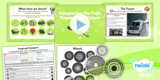 PlanIt History KS1 Travel Transport 6 Compare Past Present Future