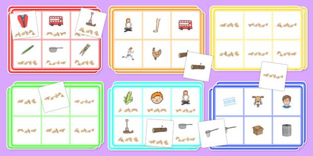 CVC Word Bingo and Lotto Activity Pack with British Sign Language