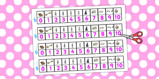 Hansel and Gretel Number Track 1-10 - number track, hansel, 1-10