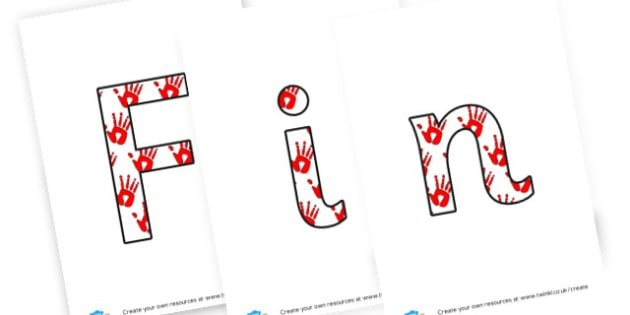 Finger Gym Lettering - display lettering - Planning Finger Gym Primary Resources - Early Years Planning Prim