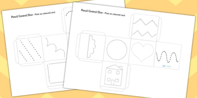 Pencil Control Practice Dice Activity - pencil control, practice, dice, activity