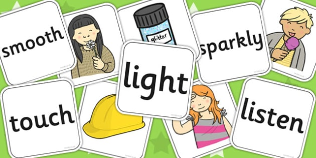 Senses Matching Cards and Board - senses, matching, cards, board