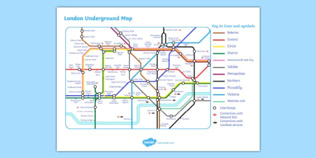 London Underground Map - London, underground, map, transport, captial, England, tourism, tourist, information, Big Ben, Parliament, Tower Bridge, sight seeing