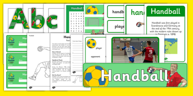 The Olympics Handball Resource Pack - Handball, Olympics, Olympic Games, sports, Olympic, London, 2012, resource pack, pack resources, activity, Olympic torch, events, flag, countries, medal, Olympic Rings, mascots, flame, compete