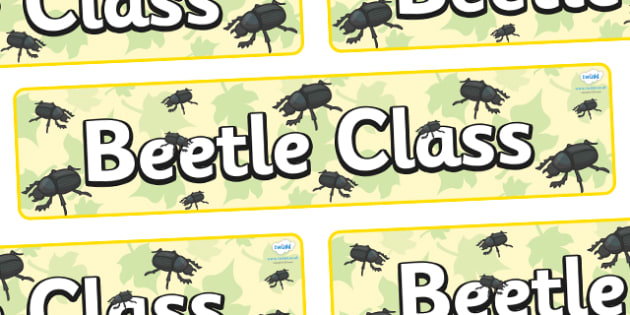 Beetle Themed Classroom Display Banner - Themed banner, banner, display banner, Classroom labels, Area labels, Poster, Display, Areas
